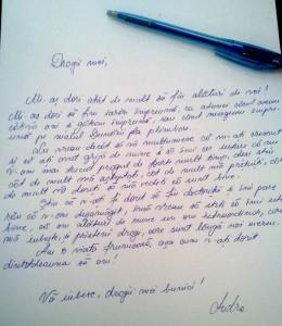 scrisoare de craciun catre bunici - Andreea